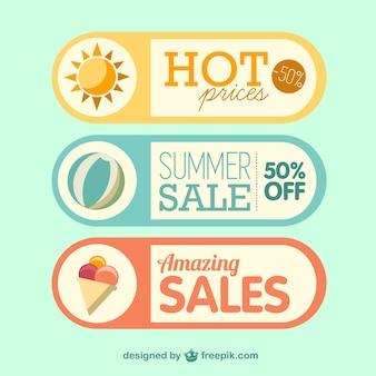 Etiquetas da venda verão