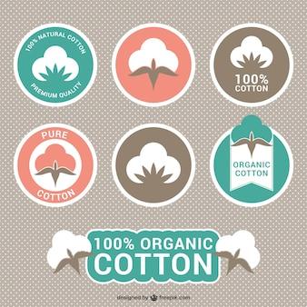 Etiquetas de algodão orgânico