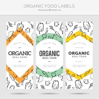 Etiquetas de alimentos orgânicos