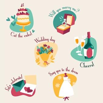 Etiquetas de casamento