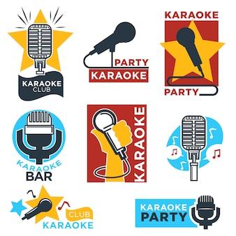 Etiquetas de clube e bar de karaokê