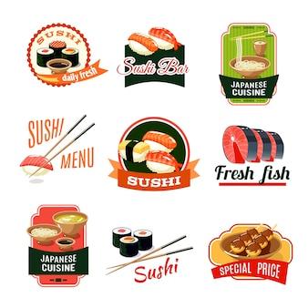 Etiquetas de comida asiática