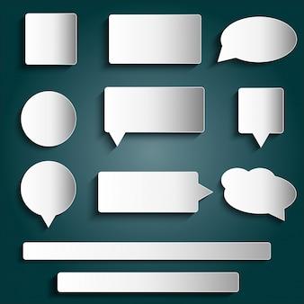 Etiquetas de elementos de design etiquetas botões adesivos