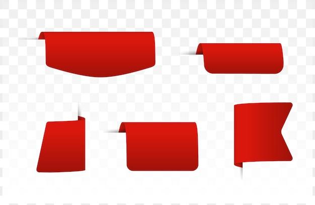 Etiquetas de etiquetas de preço em branco vermelho.