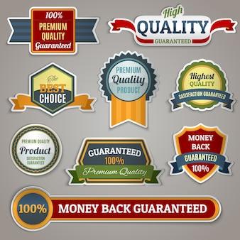 Etiquetas de etiquetas de qualidade