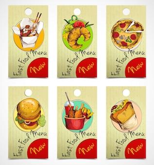 Etiquetas de fast food