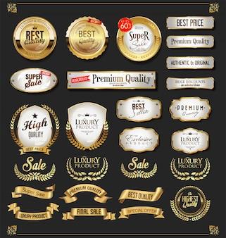 Etiquetas de fitas e escudos