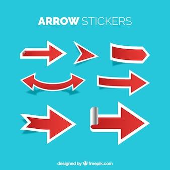 Etiquetas de flecha com estilo moderno