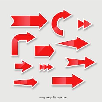 Etiquetas de flecha vermelha