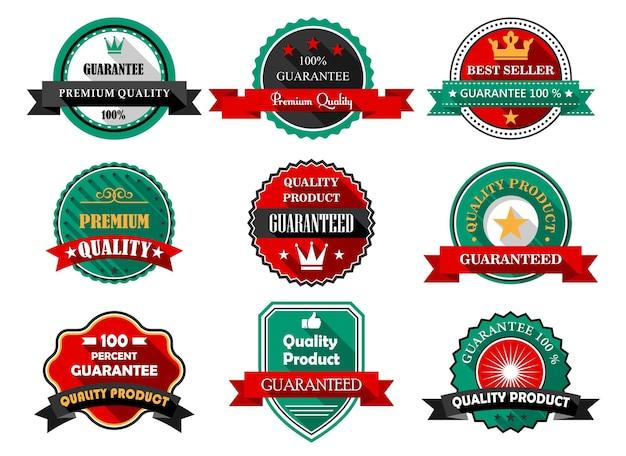 Etiquetas de garantia de qualidade premium