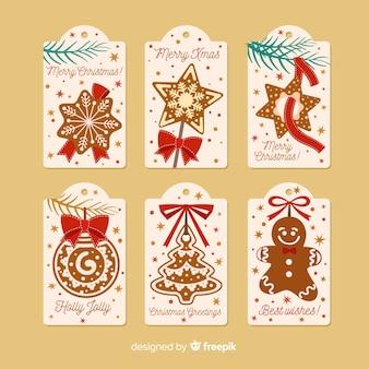 Etiquetas de natal decorativas