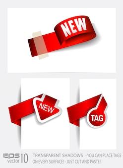 Etiquetas de papel em estilo original