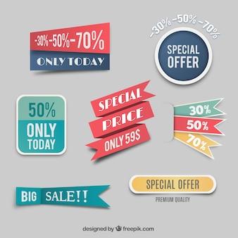 Etiquetas de preços especiais