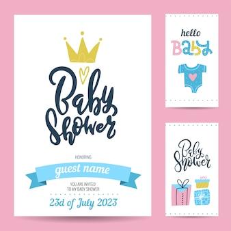 Etiquetas de presente e cartão de convite de aniversário