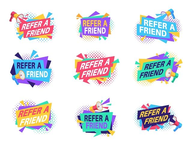 Etiquetas de programas de referência com alto-falante.