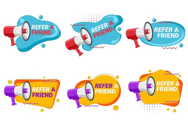 Etiquetas de programas de referência com alto-falante
