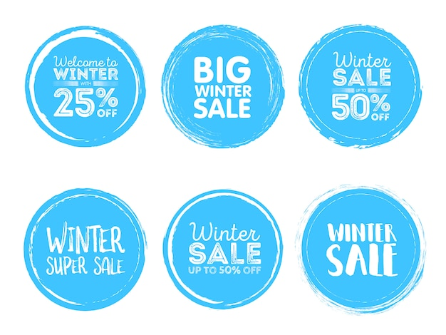 Etiquetas de venda de inverno