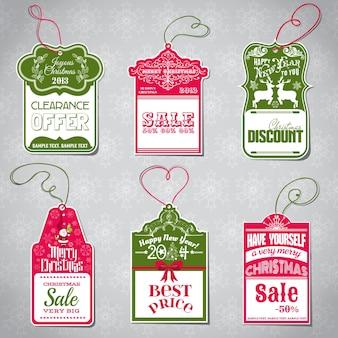 Etiquetas de venda de natal para design e álbum de recortes