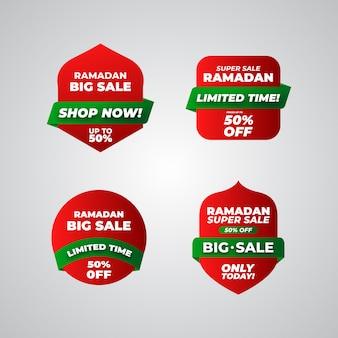 Etiquetas de venda de ramadã