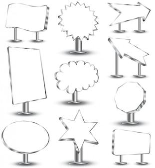 Etiquetas de vetor livre adesivos emblemas banners e tags