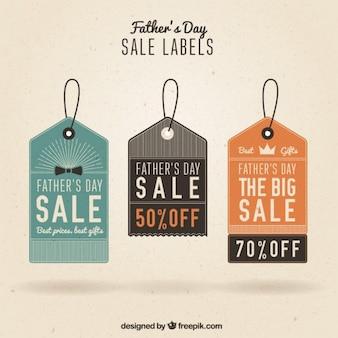 Etiquetas dia de venda do pai