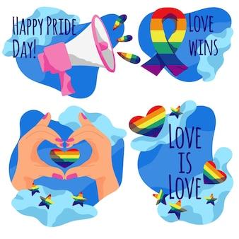 Etiquetas do dia do orgulho