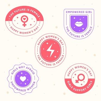 Etiquetas do dia internacional da mulher