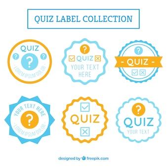 Etiquetas do quiz geométricas