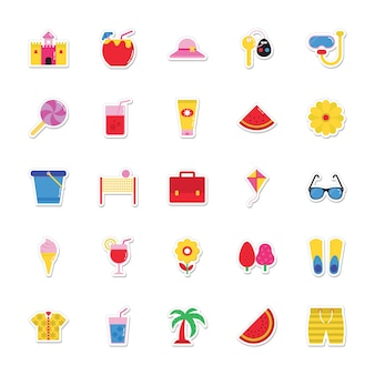 Etiquetas do verão e dos feriados