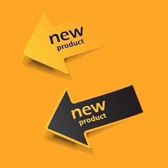 Etiquetas e adesivos de novos produtos
