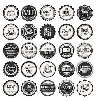 Etiquetas e emblemas vintage retrô
