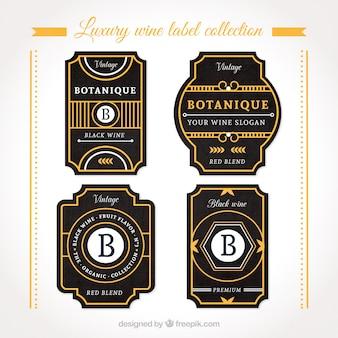 Etiquetas elegantes para garrafas com detalhes laranja