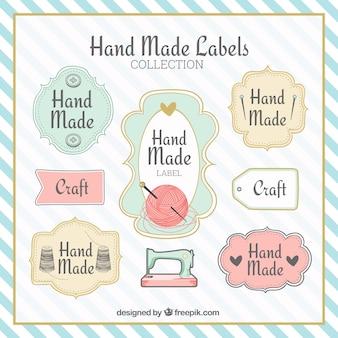 Etiquetas fantásticas sobre artesanato