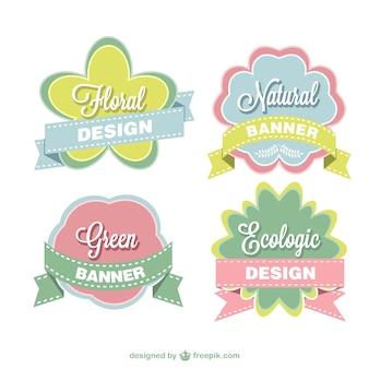 Etiquetas florais definir