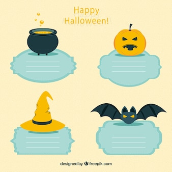 Etiquetas happy halloween