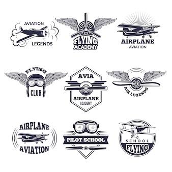 Etiquetas no tema de aeronaves.