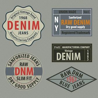 Etiquetas originais do denim de calças de ganga do vintage