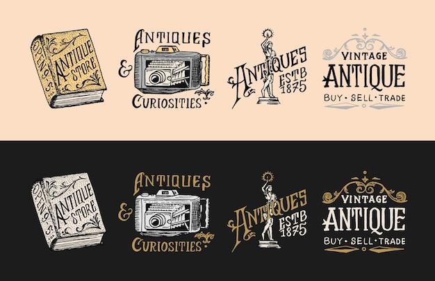 Etiquetas ou emblemas de antiquários