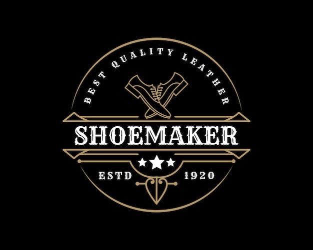 Etiquetas ou logotipo de loja de sapato fabricante de sapatos de couro vintage de luxo para marca de sapatos homem mulher