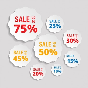 Etiquetas para descontos de vendas