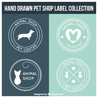 Etiquetas pet shop redondos