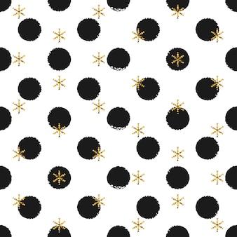 Etiquetas redondas do presente do ano novo do natal.