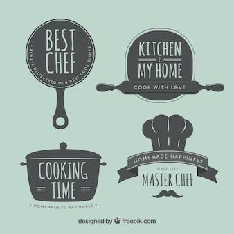 Etiquetas retros da cozinha