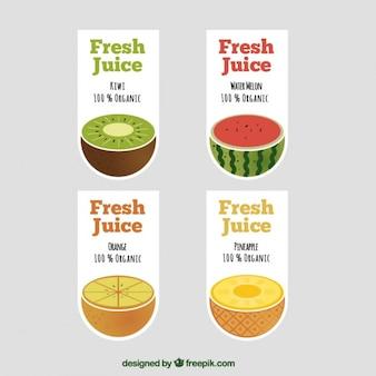 Etiquetas surpreendentes para sucos de frutas