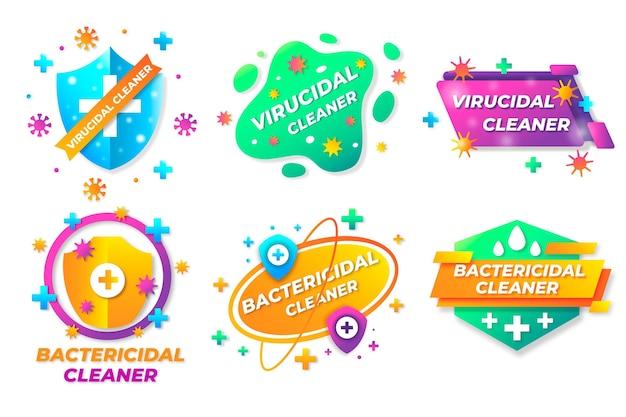 Etiquetas viricidas e bactericidas para produtos de limpeza