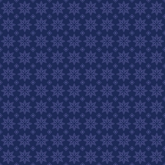 Étnico batik flores geométricas sem costura de fundo em estilo vintage azul