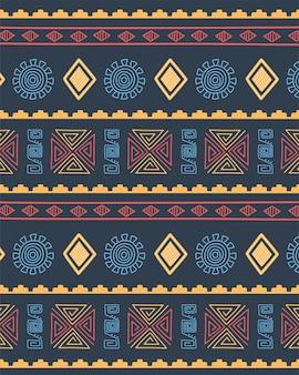Étnico feito à mão, fundo cultural tribal padrão de repetição ilustração vetorial de decoração