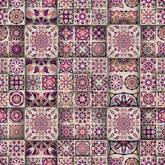 Étnico floral padrão sem emenda com elementos vintage mandala.