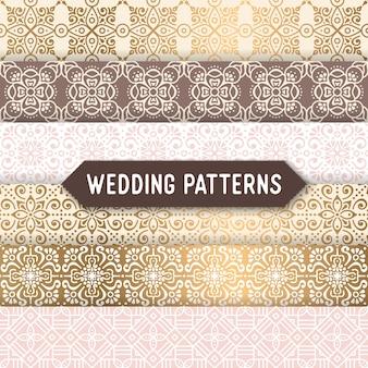 Étnico, floral, seamless, padrão, ornamental, padrão