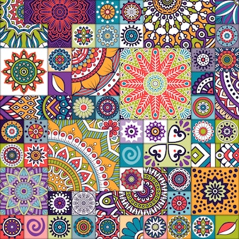 Étnico, fundo, azulejo, textura